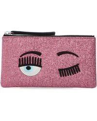 Chiara Ferragni Flirting Glitter Cardholder - Pink