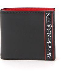 Alexander McQueen Logo Print Bi-fold Wallet - Black