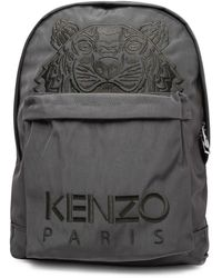 KENZO Kampus Tiger Embroidered Backpack - Grey