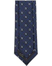 Fendi Ff Motif Tie - Blue