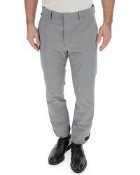 Prada Straight Leg Strap Cuff Trousers - Grey