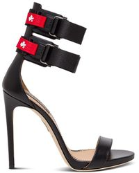 DSquared² Leather Sandals With Buckles - Black