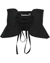 Philosophy Di Lorenzo Serafini Poplin Corset Belt - Black