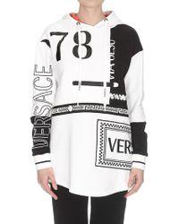 Versace - Logo Detail Hoodie - Lyst