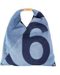 MM6 by Maison Martin Margiela Japanese Medium Denim Tote Bag - Blue