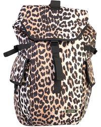 Ganni Leopard Print Backpack - Multicolor