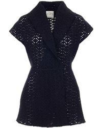 Alaïa Lace Detailed Short-sleeve Jacket - Black