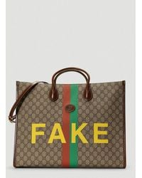 Gucci Fake/not Print Large Tote Bag - Multicolor