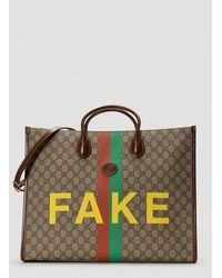 Gucci Fake/not Print Large Tote Bag - Multicolour