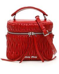 Miu Miu Matelasse' Mini Bag - Red