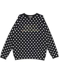 Gucci Logo Polka Dot Print Sweatshirt - Black