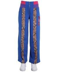 "Fila ""reina"" Python Print Wide Pants - Blue"