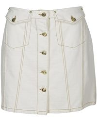 Versace Jeans Button-up Skirt - White