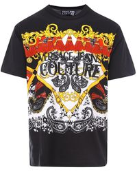 Versace Jeans Couture Printed T-shirt - Black