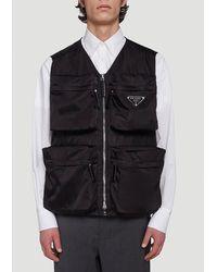 Prada Re-nylon Pocket Vest - Black