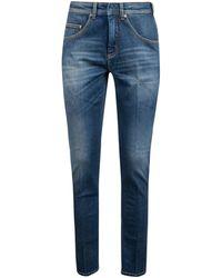 Neil Barrett Faded Tapered Jeans - Blue