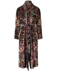 Etro Floral Paisley Velvet Coat - Multicolor