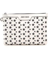 Jimmy Choo Star Studded Clutch Bag - White