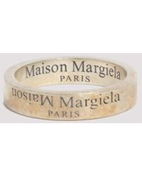 Maison Margiela Logo Engraved Ring - S / Silver - Metallic