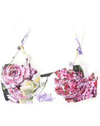 Dolce & Gabbana Printed Balconette Bikini Top