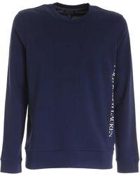 Polo Ralph Lauren Logo Print Long Sleeve T-shirt - Blue