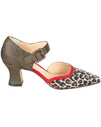 Chie Mihara Lois Mix Print Court Shoes - Multicolour