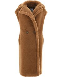 Max Mara Double-breasted Teddy Gilet - Brown