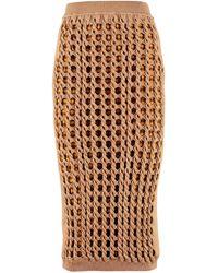 Fendi Interlock Knit Skirt - Natural