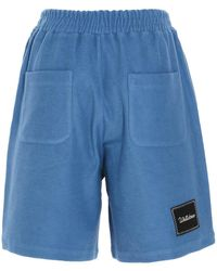 we11done Drawstring Bermuda Shorts - Blue