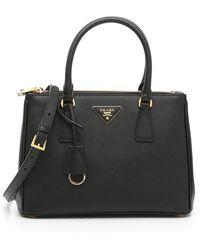 Prada Saffiano Lux Galleria Small Bag - Black