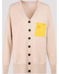 Loewe Anagram Pocket Cardigan - Natural