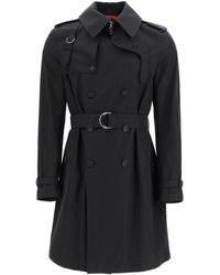Alexander McQueen Double-breasted Cotton Trench Coat 50 Cotton - Black
