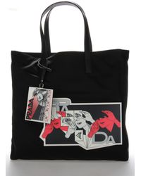 Prada Comic Print Tote Bag - Black