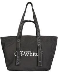 Off-White c/o Virgil Abloh Tote Bag With Logo - Black