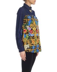 Versace Jeans Couture Panelled Shirt - Blue