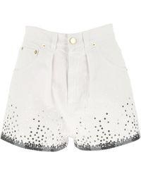 Alberta Ferretti Sequins Detail Shorts - White