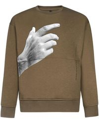 Neil Barrett The Other Hands Print Cotton Sweatshirt - Multicolour
