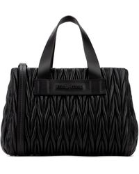 Miu Miu Matelassé Top Handle Tote Bag - Black