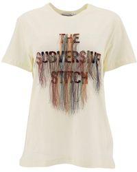 Dior The Subversive Stitch Embroidered T-shirt - White