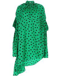 Balenciaga Silk Dress - Green