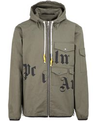 Palm Angels Windproof Jacket Green