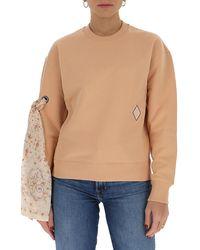 Chloé Bow-tie Detailed Crewneck Sweatshirt - Natural