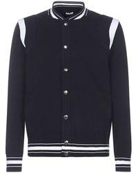 Givenchy Logo Knitted Bomber Jacket - Black