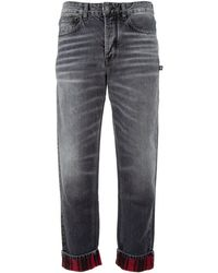 Marcelo Burlon Back Pocket Print Jeans - Grey