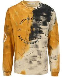 1017 ALYX 9SM Abstract Print Long-sleeve T-shirt - Multicolour