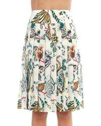 Tory Burch Carmine Pleated Skirt - Green