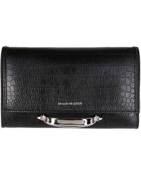 Alexander McQueen The Story Clutch Bag - Black