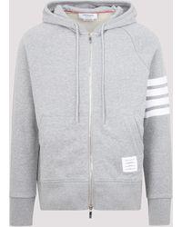 Thom Browne Engineered 4-bar Hooded Jacket - Grey