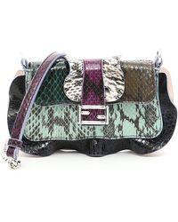 Fendi - Micro Baguette Ruffled Crossbody Bag - Lyst