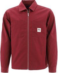 Stussy Zipped Overshirt - Red
